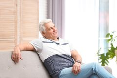 Portrait of handsome mature man royalty free stock photos