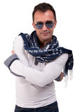 Portrait of a handsome mature man with sun glasses Stock Photography