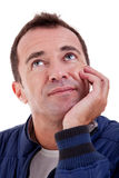 Portrait of a handsome middle-age man Royalty Free Stock Images