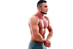 Portrait of handsome muscular sportsman Stock Photo