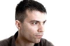 Portrait of handsome pensive guy Royalty Free Stock Photos