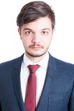 Portrait of handsome sales man or marketing manager royalty free stock photo