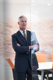 Portrait of handsome senior business man at modern office Royalty Free Stock Photos