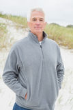 Portrait of a handsome senior man at beach Royalty Free Stock Photography