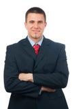 Portrait of handsome smiling businessman Stock Photos