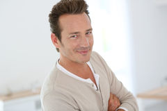 Portrait of handsome smiling man royalty free stock photo