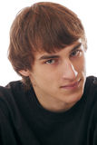 Portrait of handsome smiling teenage young man Royalty Free Stock Photos