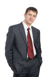 Portrait of handsome smiling young businessman Royalty Free Stock Image