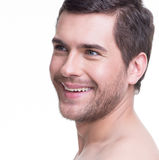 Portrait of handsome smiling young man. Royalty Free Stock Photography