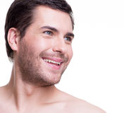 Portrait of handsome smiling young man. Royalty Free Stock Photo