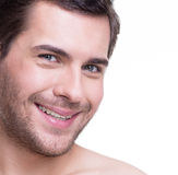 Portrait of handsome smiling young man. Royalty Free Stock Photos