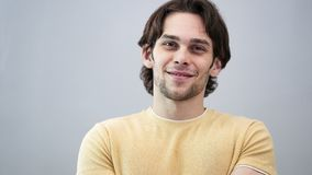 Portrait of handsome smiling young man royalty free stock photo