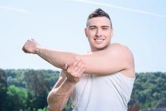 Portrait of a handsome sportsman Stock Image