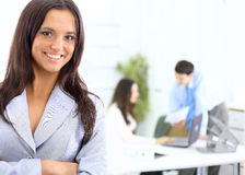 Portrait of a handsome successful. Business man busy working Royalty Free Stock Image
