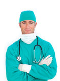 Portrait of handsome surgeon Royalty Free Stock Photos