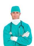 Portrait of handsome surgeon Royalty Free Stock Photos