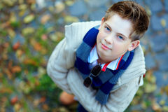 Portrait of handsome teenage boy royalty free stock images