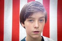 Portrait of a handsome teenager boy Stock Image