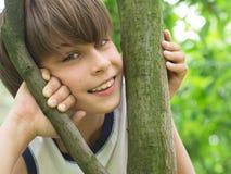 Portrait of handsome teeneger Stock Photos