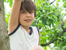 Portrait of handsome teeneger Stock Photo