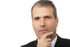 Portrait of handsome thoughtful businessman Royalty Free Stock Photos
