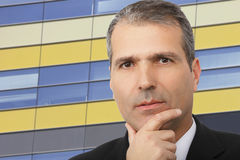 Portrait of handsome thoughtful businessman Royalty Free Stock Image