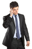 Portrait of a handsome thoughtful businessman Royalty Free Stock Images