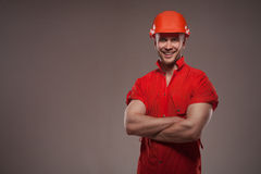 Portrait of handsome worker Royalty Free Stock Photo