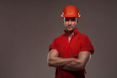 Portrait of handsome worker Royalty Free Stock Image