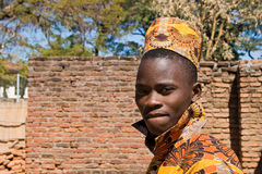 Portrait of a handsome young African man. Royalty Free Stock Photography