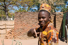 Portrait of a handsome young African man. Stock Image