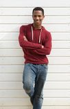 Portrait of a handsome young african man smiling Stock Photography