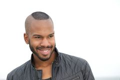 Portrait of a handsome young black man smiling Royalty Free Stock Photos