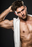 Portrait of handsome young bodybuilder Stock Image
