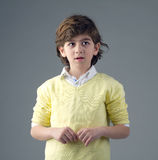 Portrait of a handsome young boy isolated stock image
