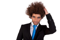Portrait of a handsome and young  business man Stock Images