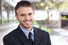 Portrait of a handsome young businessman Stock Images