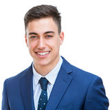 Portrait of handsome young businessman isolated. Royalty Free Stock Photos