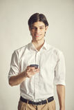 Portrait of an handsome young businessman Stock Image