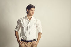 Portrait of an handsome young businessman Royalty Free Stock Photo