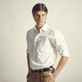 Portrait of an handsome young businessman Stock Images