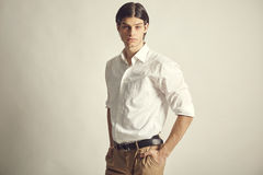 Portrait of an handsome young businessman Royalty Free Stock Photos