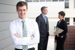 Portrait of a handsome young businessman Royalty Free Stock Photos