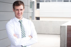 Portrait of a handsome young businessman Stock Photo
