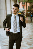 Portrait of a handsome young businessman Royalty Free Stock Photo