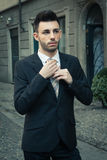 Portrait of a handsome young businessman Stock Image