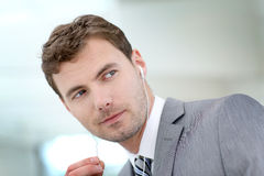 Portrait of handsome young businessman royalty free stock images