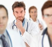 Portrait of handsome young male doctor Royalty Free Stock Images