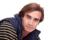 Portrait of a handsome young man royalty free stock photo