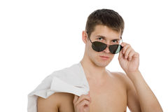 Portrait of a handsome young man Royalty Free Stock Photos
